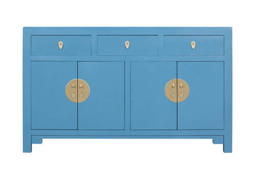 Fine Asianliving Chinese Dressoir Saffierblauw - Orientique Collection L140xB35xH85cm