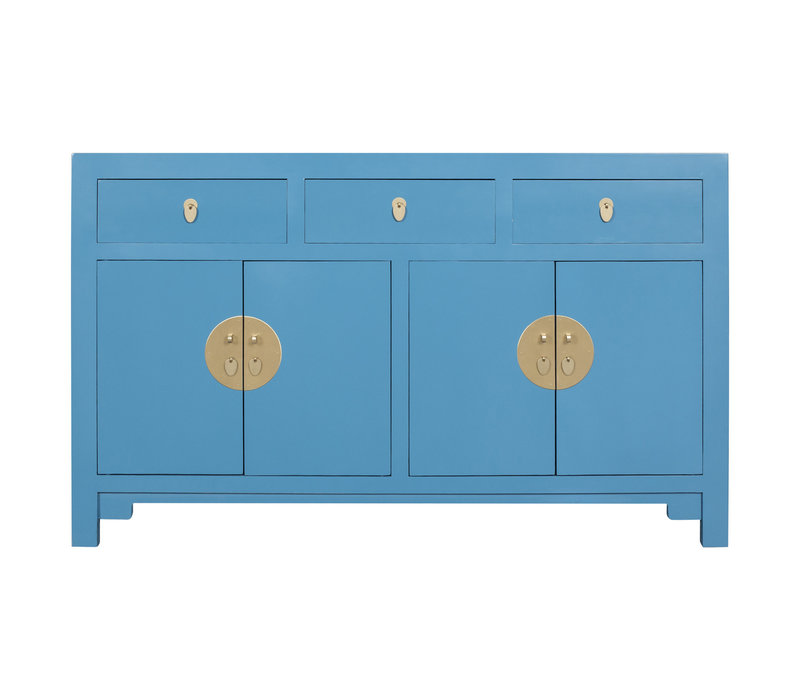 Chinese Sideboard Sapphire Blue - Orientique Collection L140xW35xH85cm