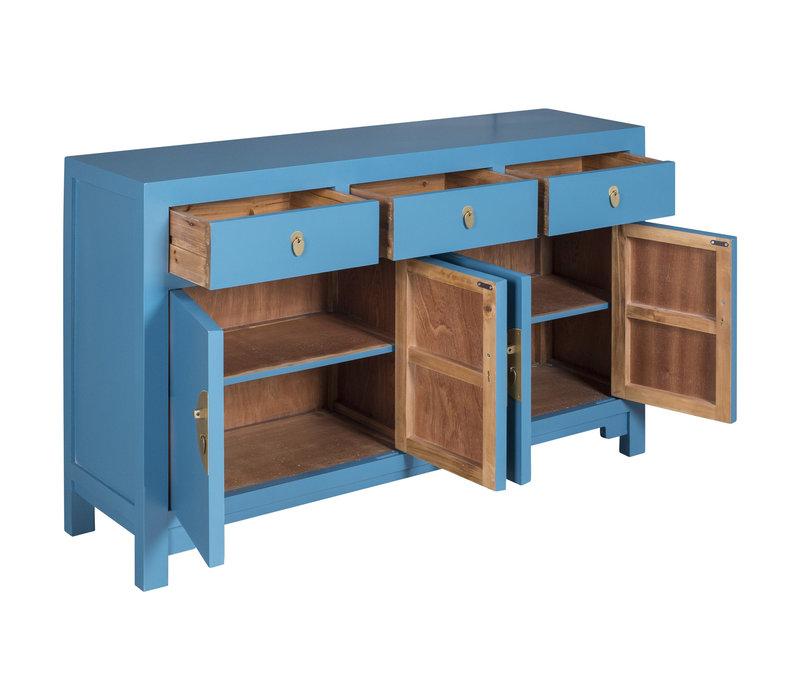 Chinesisches Sideboard Kommode Saphirblau - Orientique Sammlung - B140xT35xH85cm