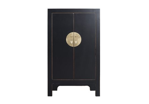 Fine Asianliving Chinese Cabinet Onyx Black - Orientique Collection L70xW40xH120cm