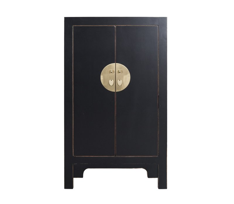 Chinese Cabinet Onyx Black - Orientique Collection L70xW40xH120cm