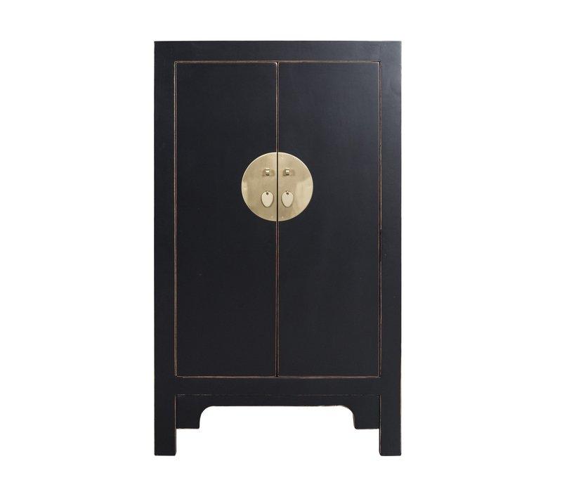Chinese Kast Onyx Zwart - Orientique Collection L70xB40xH120cm