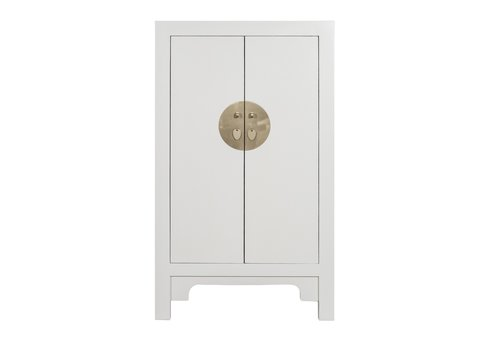 Fine Asianliving Armoire Chinoise Moonshine Grège - Orientique Collection L70xP40xH120cm