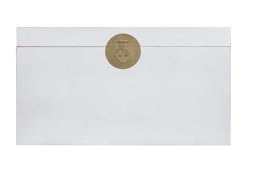 Fine Asianliving Caja Cofre de Almacenamiento Chino Antiguo Blanco - Orientique Colección A90xP45xA50cm