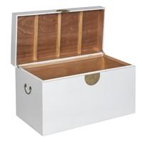 Caja Cofre de Almacenamiento Chino Antiguo Blanco - Orientique Colección Anch.90 x Prof.45 x Alt.50 cm