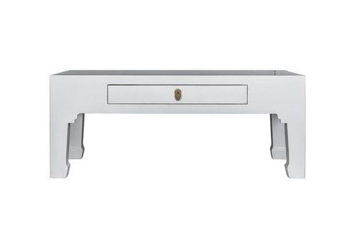 Fine Asianliving Tavolino Cinese Bianco - Orientique Collezione L110xP60xA45cm