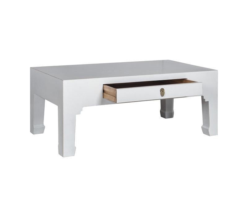 Mesa de Centro China Blanca - Orientique Colección A110xP60xA45cm