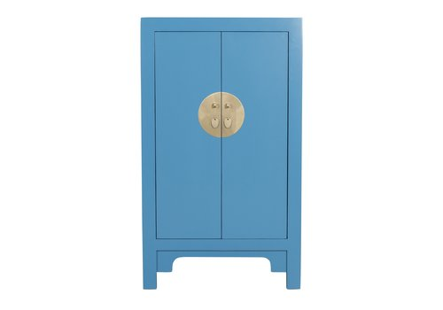 Fine Asianliving Armoire Chinoise Bleu Saphir - Orientique Collection L70xP40xH120cm