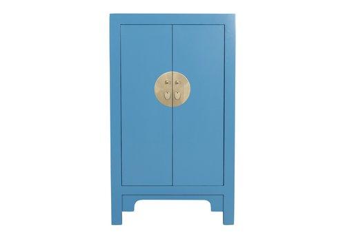 Fine Asianliving Chinese Kast Hemelsblauw - Orientique Collectie B70xD40xH120cm