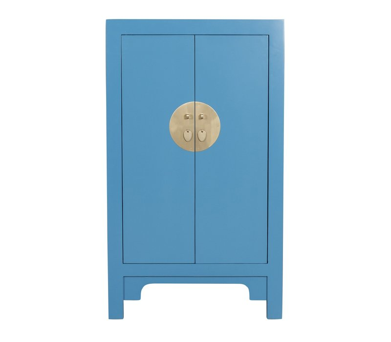 Chinese Kast Saffierblauw - Orientique Collection L70xB40xH120cm