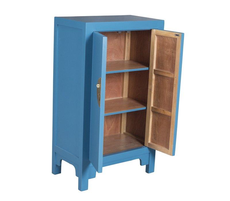 Chinese Kast Hemelsblauw - Orientique Collectie B70xD40xH120cm