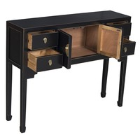 Chinese Sidetable Onyx Zwart - Orientique Collection L100xB26xH80cm