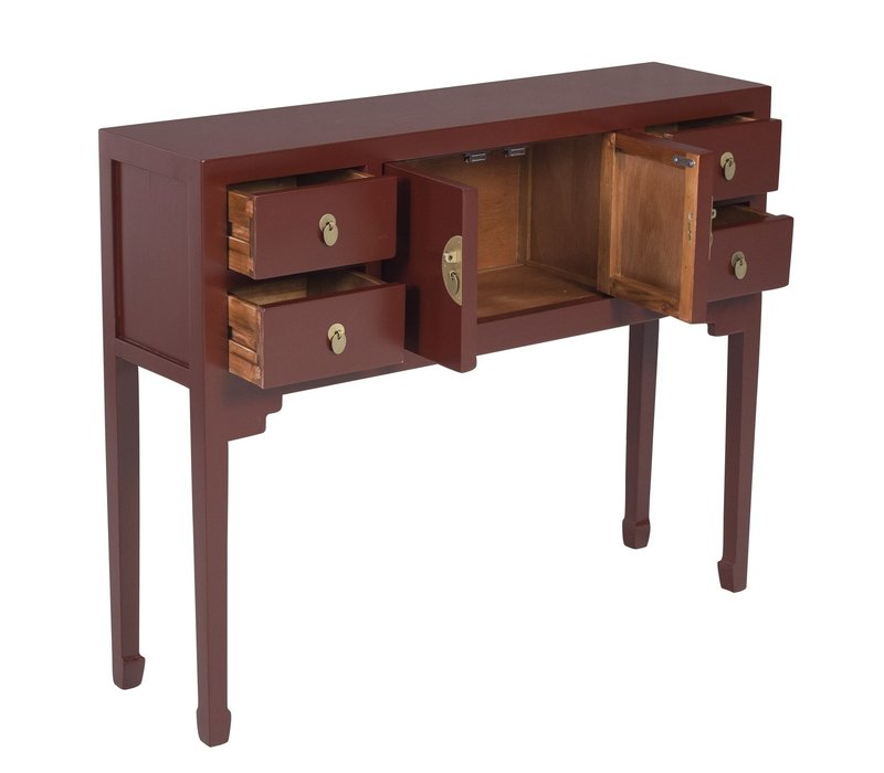 Chinese Sidetable Scarlet Rouge - Orientique Collection L100xW26xH80cm