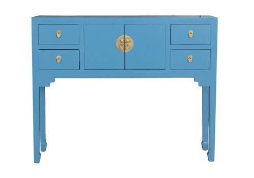 Fine Asianliving Chinese Sidetable Sapphire Blue - Orientique Collection L100xW26xH80cm