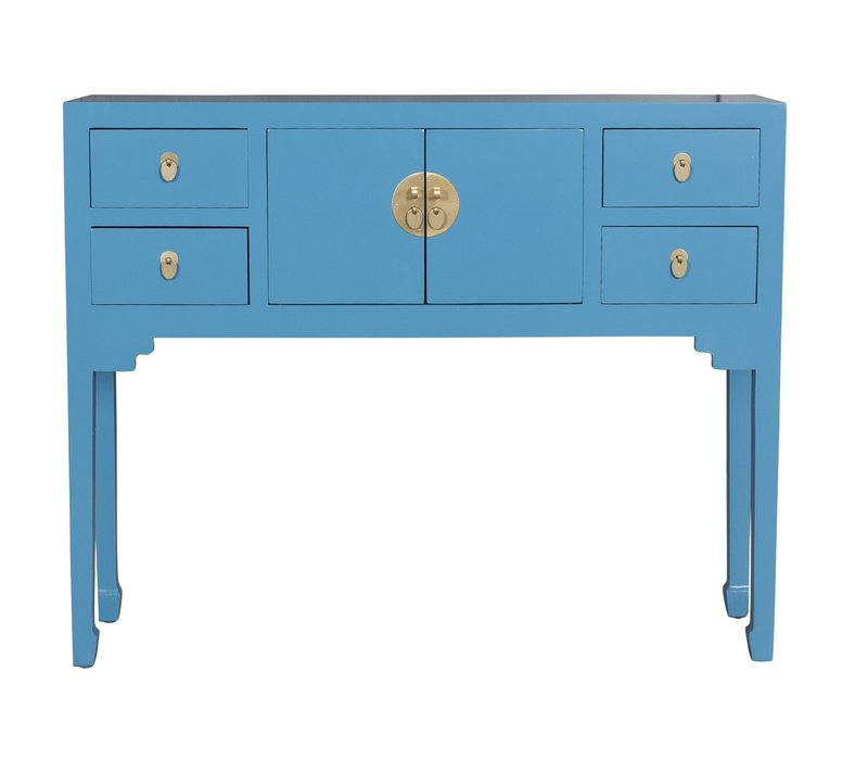Chinese Sidetable Sapphire Blue - Orientique Collection L100xW26xH80cm