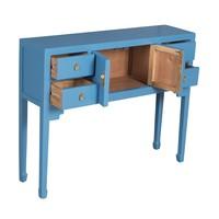 Mesa Auxiliar China Azul Zafiro - Orientique Colección Anch.100 x Prof.26 x Alt.80 cm