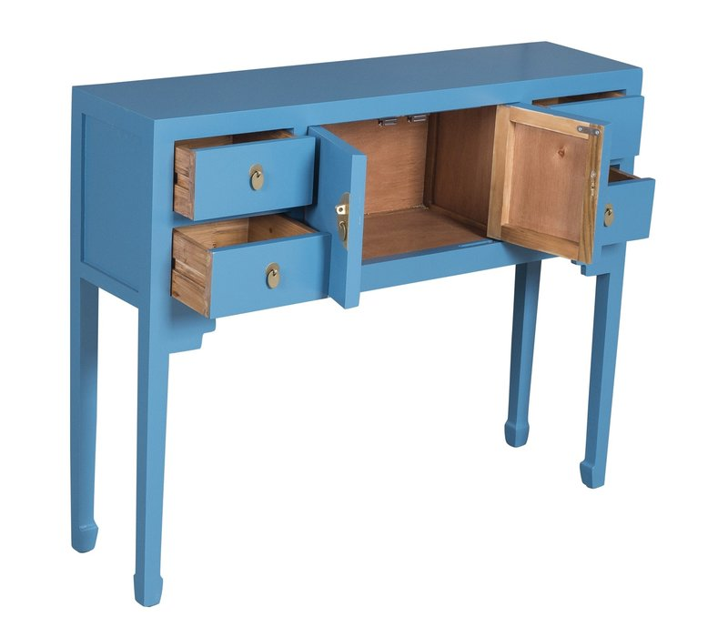Chinese Sidetable Saffierblauw - Orientique Collection L100xW26xH80cm