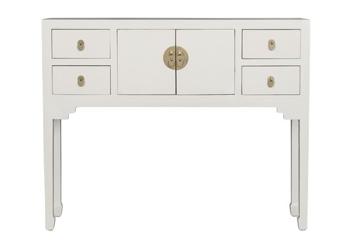 Fine Asianliving Chinese Console Table Moonshine Greige - Orientique Collection W100xD26xH80cm
