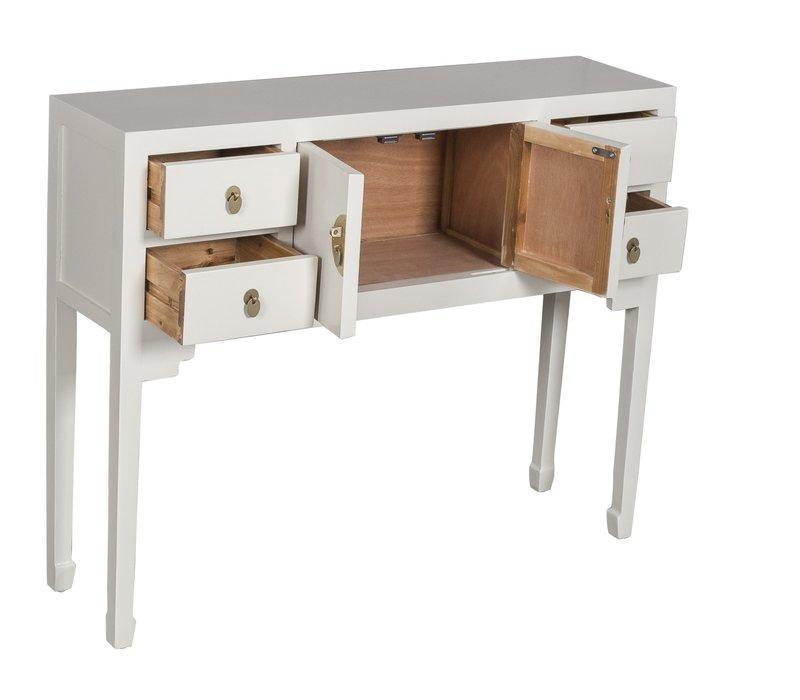 Console Chinoise Gris - Orientique Collection L100xP26xH80cm