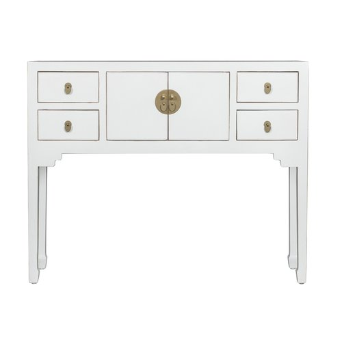 Chinese Sidetable Snow White - Orientique Collection L100xW26xH80cm