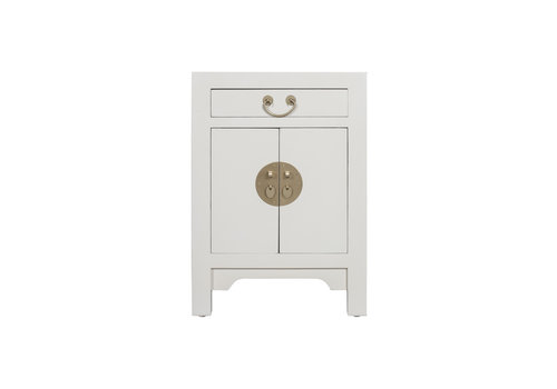Fine Asianliving Chinese Bedside Table Moonshine Greige - Orientique Collection W42xD35xH60cm