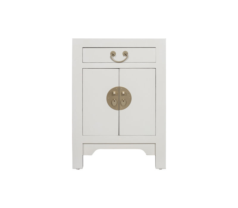 Chinese Bedside Table Moonshine Greige - Orientique Collection L42xW35xH60cm