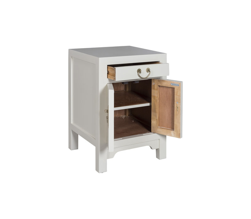 Chinese Bedside Table Moonshine Greige - Orientique Collection W42xD35xH60cm
