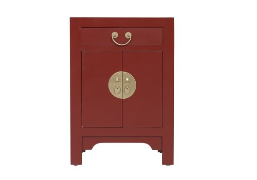Fine Asianliving Chinese Bedside Table Scarlet Rouge - Orientique Collection L42xW35xH60cm