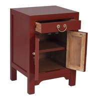 Chinese Bedside Table Scarlet Rouge - Orientique Collection L42xW35xH60cm