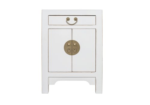 Fine Asianliving Chinese Bedside Table Snow-white - Orientique Collection W42xD35xH60cm