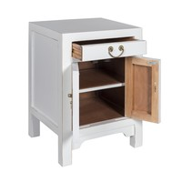 Chinese Bedside Table Snow-white - Orientique Collection W42xD35xH60cm