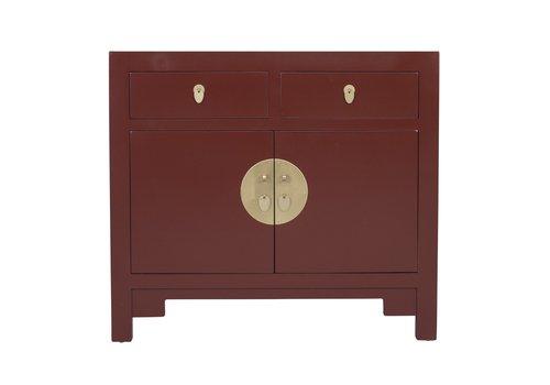 Fine Asianliving Armoire Chinoise Rouge Écarlate - Orientique Collection L90xP40xH80cm