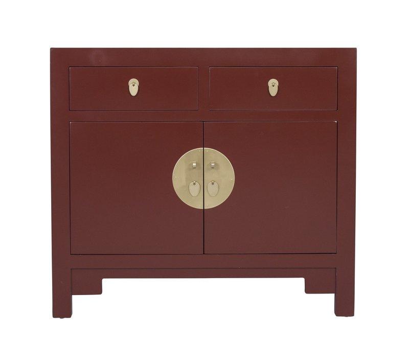 Armoire Chinoise Rouge Écarlate - Orientique Collection L90xP40xH80cm