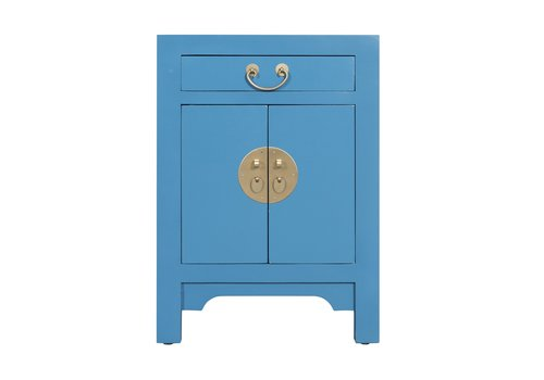 Fine Asianliving Chinese Bedside Table Sapphire Blue - Orientique Collection W42xD35xH60cm