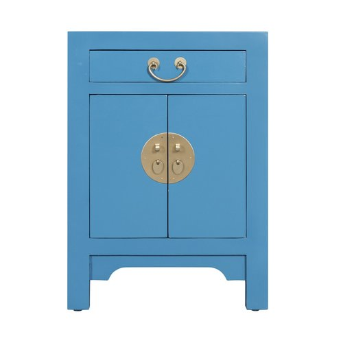 Chinese Bedside Table Sapphire Blue - Orientique Collection L42xW35xH60cm