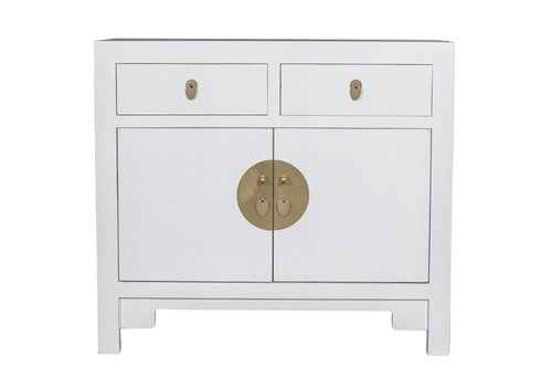 Fine Asianliving Chinese Cabinet Snow White - Orientique Collection L90xW40xH80cm