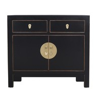Chinese Cabinet Onyx Black - Orientique Collection L90xW40xH80cm