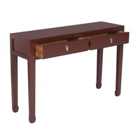 Chinese Sidetable Scarlet Rouge - Orientique Collection L120xW35xH80cm