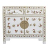 Fine Asianliving Chinese Sideboard Handpainted Butterflies Snow White W90xD40xH80cm