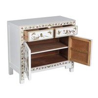 Chinese Sideboard Hand-painted Butterflies Snow White W90xD40xH80cm