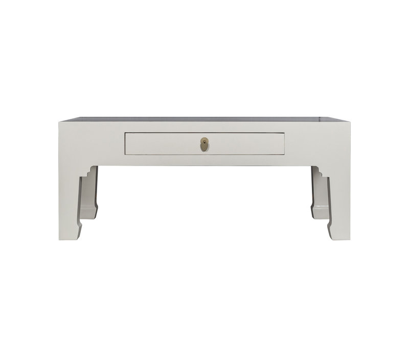 Tavolino Cinese Grigio - Orientique Collezione L110xP60xA45cm
