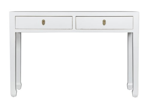 Fine Asianliving Chinese Console Table Snow-white - Orientique Collection W120xD35xH80cm