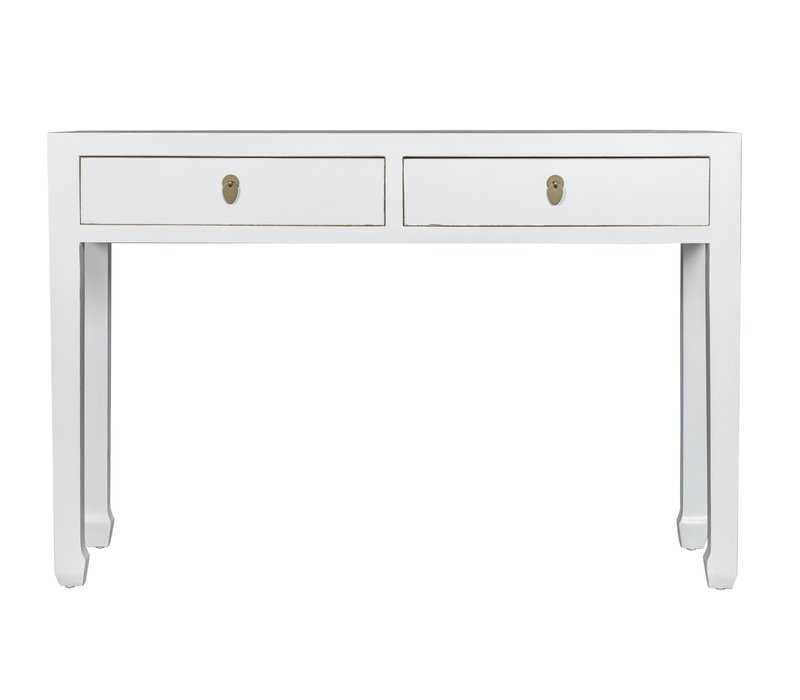 Chinese Sidetable Sneeuwwit - Orientique Collectie B120xD35xH80cm