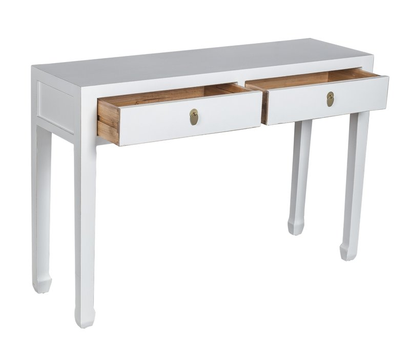 Chinese Sidetable Snow Wit - Orientique Collection L120xB35xH80cm
