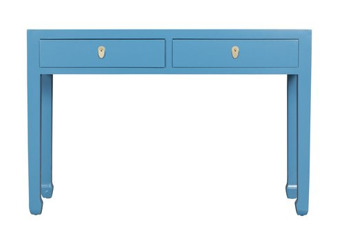 Fine Asianliving Chinese Sidetable Sapphire Blue - Orientique Collection L120xW35xH80cm