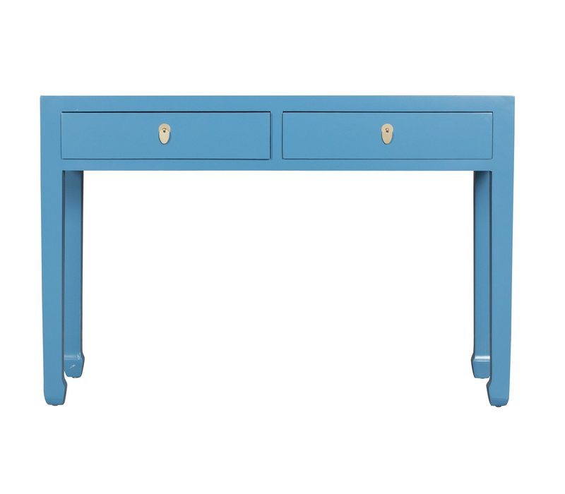 Chinese Sidetable Sapphire Blue - Orientique Collection L120xW35xH80cm