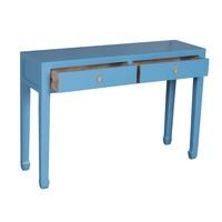 Chinese Sidetable Saffierblauw - Orientique Collectie B120xD35xH80cm