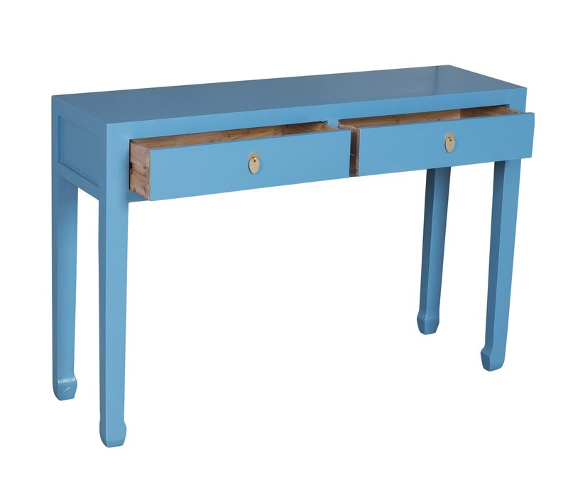 Chinese Sidetable Sapphire Blauw - Orientique Collection L120xB35xH80cm