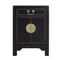 Chinese Bedside Table Onyx Black - Orientique Collection L42xW35xH60cm