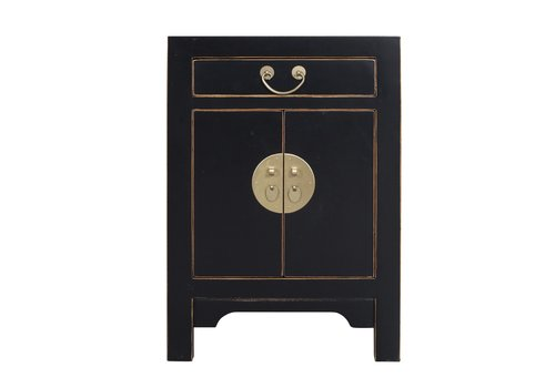 Fine Asianliving Chinese Bedside Table Onyx Black - Orientique Collection L42xW35xH60cm